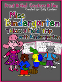 Print & Go Pack! Miss Bindergarten Takes a Field Trip with Kindergarten