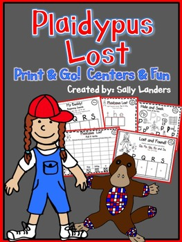 Print & Go Pack! Plaidypus Lost {Kindergarten Common Core Reading Street}