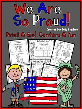 Print & Go Pack! We Are So Proud! {Kindergarten Common Core Reading Street}