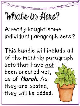 Print & Go Paragraph Editing GROWING BUNDLE for the REST of the year