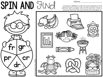 Print & Go Phonics ~ Blends