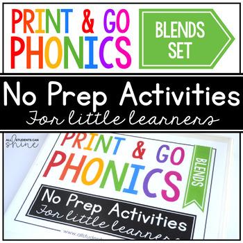 Print & Go Phonics ~ Blends