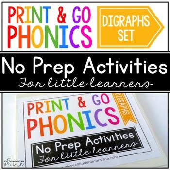 Print & Go Phonics ~ Digraphs