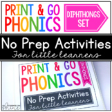Print & Go Phonics ~ Diphthongs
