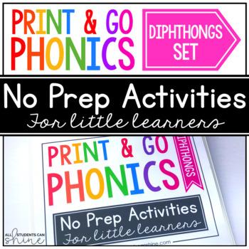 Print & Go Phonics ~ Diphthongs