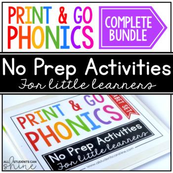Print & Go Phonics ~ COMPLETE BUNDLE