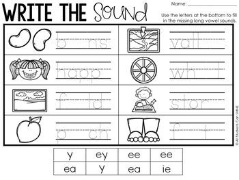 Print & Go Phonics ~ Long Vowels