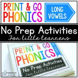 Print & Go Phonics ~ Long Vowels
