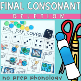 Final Consonant Deletion No Prep Phonology Speech Therapy