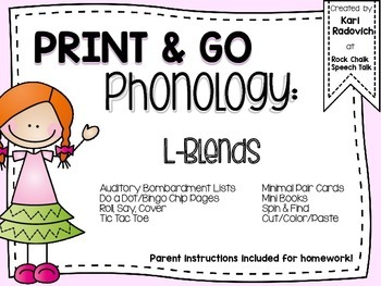 Print and Go Phonology: L Blends