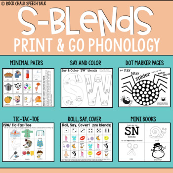 S Blends Print and Go Phonology for Speech Therapy: Cycles Approach
