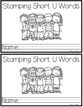 Print & Go Stamping Center: CVC-Short U {Mini Student Booklets}