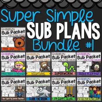 Print & Go Sub Plan Bundle!