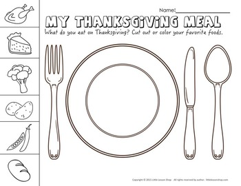Print & Go Thanksgiving Activity Worksheets for Kindergarten - First Grade