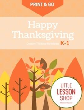Print & Go Thanksgiving Activity Worksheets for Kindergart