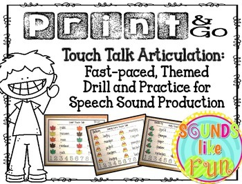 Print & Go: Touch Talk Articulation