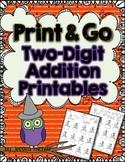 Print & Go Two-Digit Addition Printables {Halloween}
