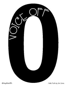 Print & Go Voice Level Chart