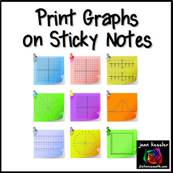 Print Graphs on Sticky Notes  -  Post It Notes Templates