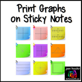 Print Graphs on Sticky Notes  -  Post It™ Notes Math Templates