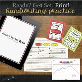 Print Handwriting Practice for Kindergarten (Print / Manuscript)