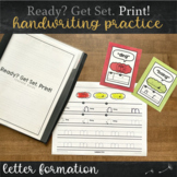Print Handwriting Practice with Letter Formation (Kinderga
