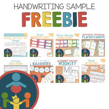 Print Handwriting Practice Freebie