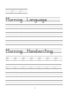 Print Handwriting and Morning Work Book