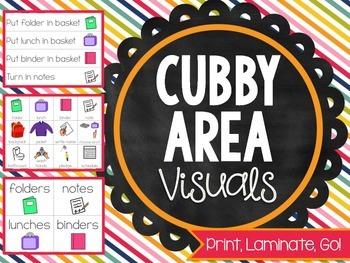 Print, Laminate, Go: CUBBY AREA VISUALS