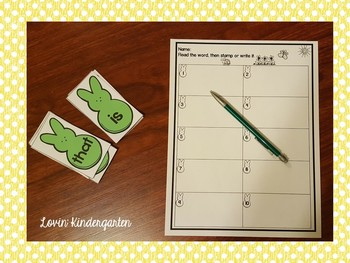 Print, Laminate and Go - Sight Word Station for Easter