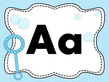 Print Letter Posters - Bubble Theme