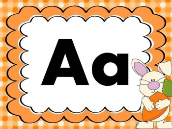 Print Letter Posters - Bunny Theme