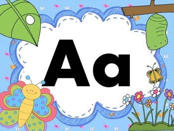 Print Letter Posters - Butterfly Theme