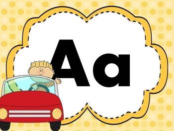 Print Letter Posters - Car Theme