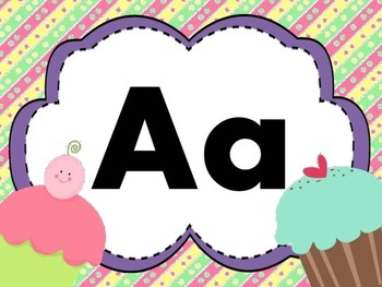 Print Letter Posters - Cupcake Theme