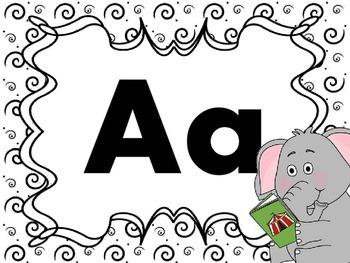 Print Letter Posters - Elephant Theme