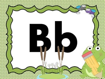 Print Letter Posters - Frog Theme