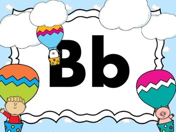 Print Letter Posters - Hot Air Balloon Theme