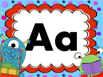 Print Letter Posters - Monster Theme