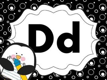 Print Letter Posters - Penguin Theme