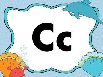 Print Letter Posters - Sea Life Theme