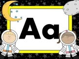 Print Letter Posters - Space Theme