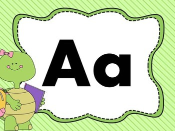 Print Letter Posters - Turtle Theme