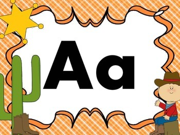 Print Letter Posters - Western Theme