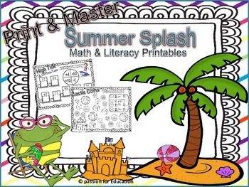 Print & Master: Summer Splash (Printable worksheets)