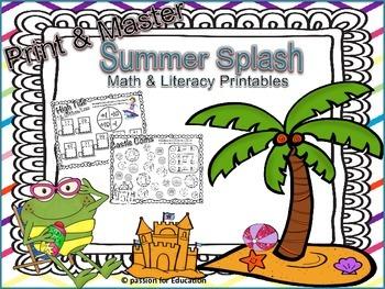 Print & Master: Summer Splash (Printable worksheets)