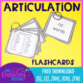 Articulation Flashcards For /s/, /sh/, /ch/, and /th/ FREE