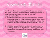 Print 'N Play: Counting Numbers File Folder Game Sample