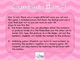 Print 'N Play: Counting Numbers File Folder Game
