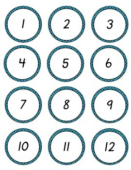 D'Nealian Numbers to 100 Brown Blue Dots